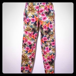 Zara basic floral pants